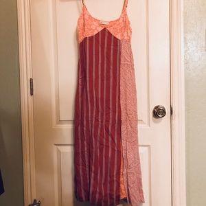 Midi Print Dress with Slit
